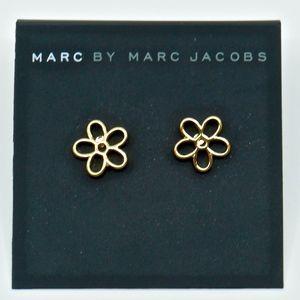 MARC JACOBS~open flower~EARRINGS~GOLD~NWT